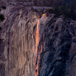 Horse Tail Fire Falls